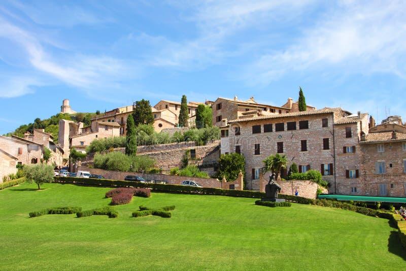 Italienische Stadt von Assisi, Stadtbild stockfoto