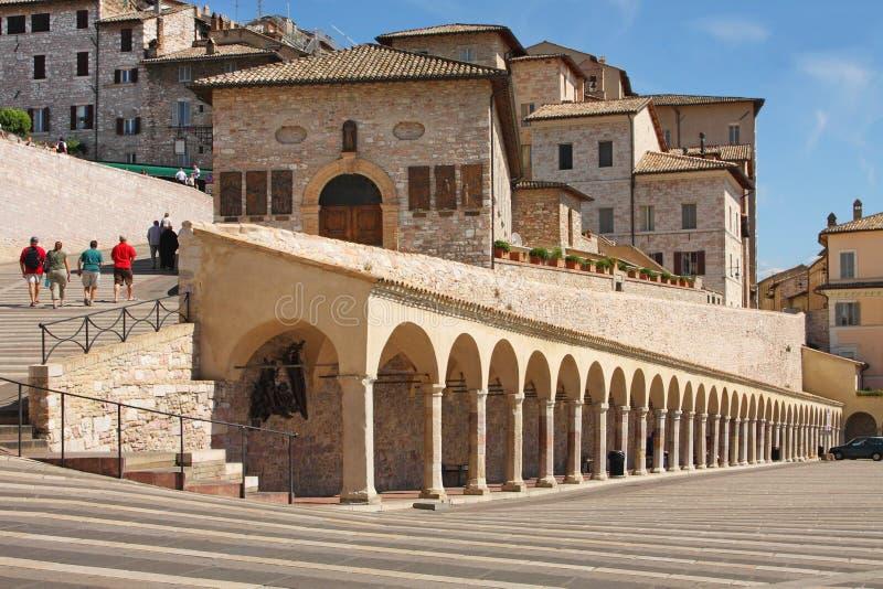 Italienische Stadt von Assisi, Straße lizenzfreies stockfoto