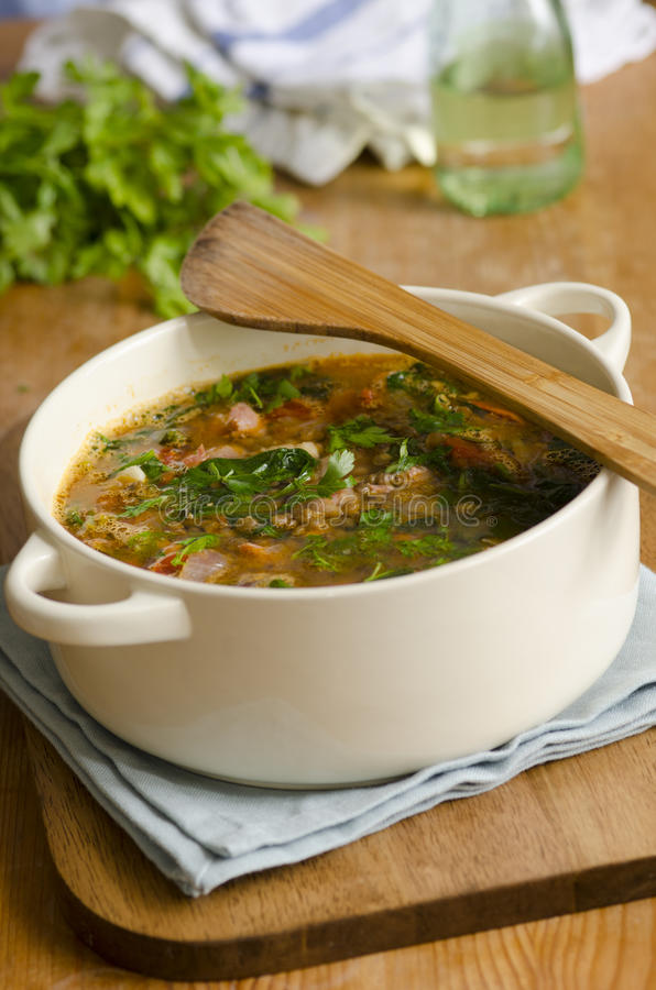 Italienische Suppe stockfotografie