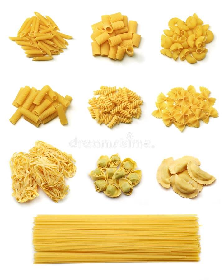Italienische Teigwarenansammlung stockfoto