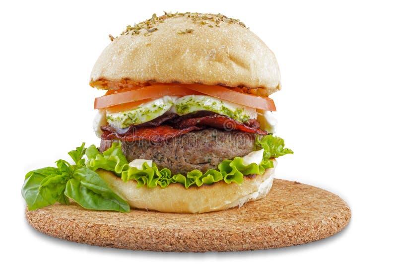 Italienischer feinschmeckerischer Hamburger stockfoto
