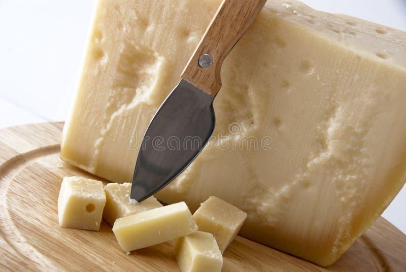 Italienischer Käse - grana padano stockbild