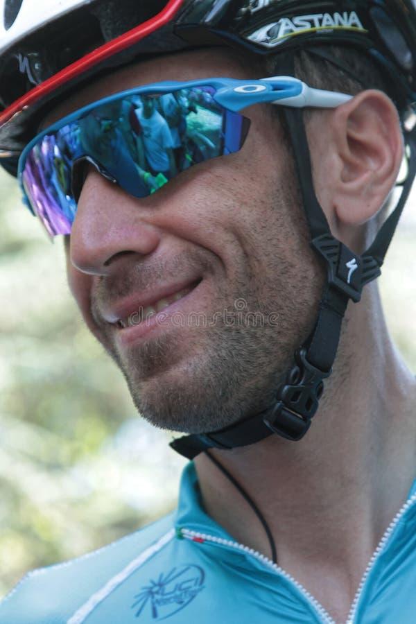 Italienischer Läufer und ehemaliger Sieger Vincenzo Nibali stockbilder