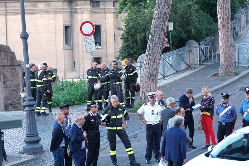 Italienischer Minister Alberto Bonisoli lizenzfreies stockbild
