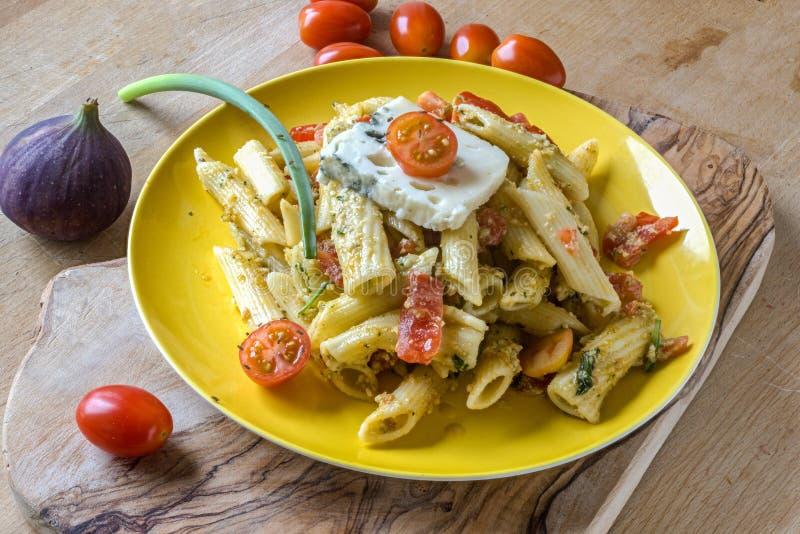 Italian noodle salad royalty free stock photo