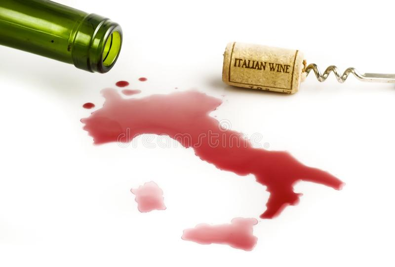 Italienischer Rotwein stockfotografie