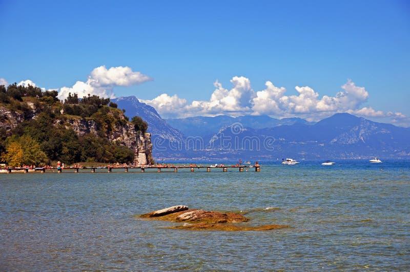 Italienischer See stockfoto