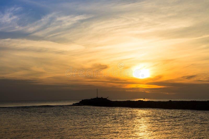 Italienischer Sonnenuntergang stockbilder
