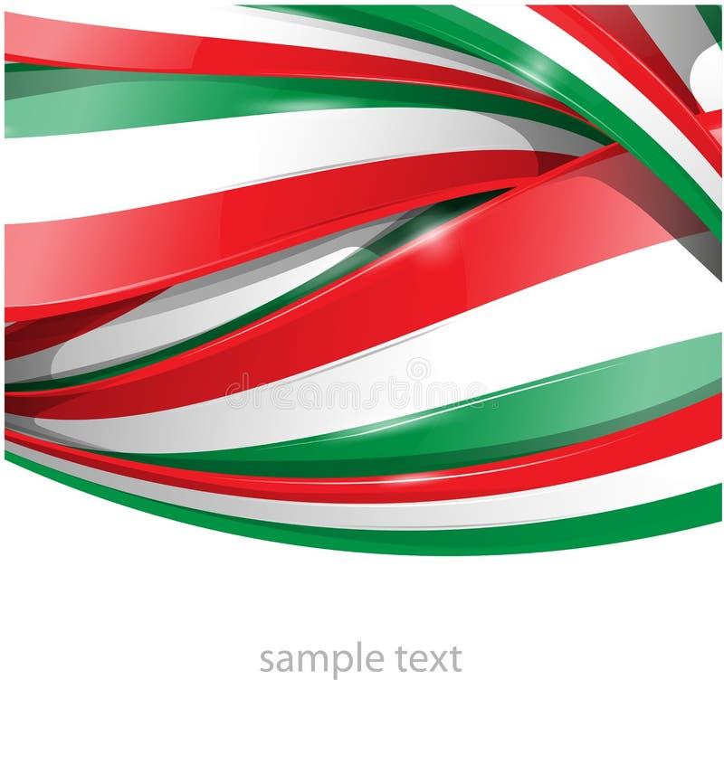 Italienischer und mexikanischer Hintergrund stock abbildung