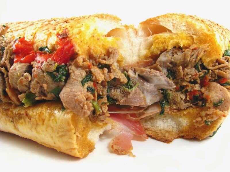 Italienisches Cheesesteak Sandwich lizenzfreie stockfotografie