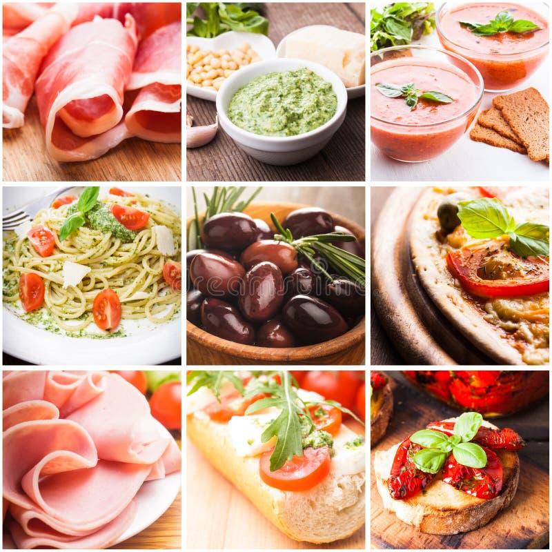Italienisches Lebensmittel lizenzfreie stockfotografie