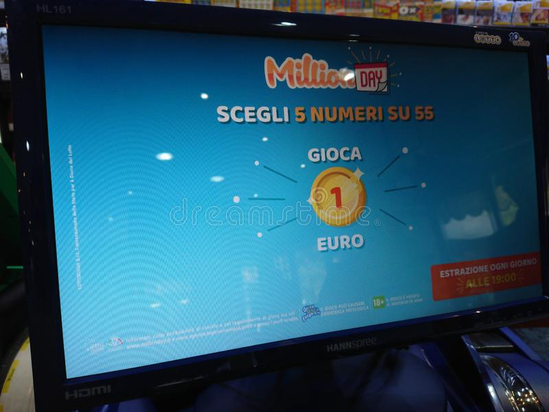 Italienisches Lotteriespiel MillionDay lizenzfreies stockfoto
