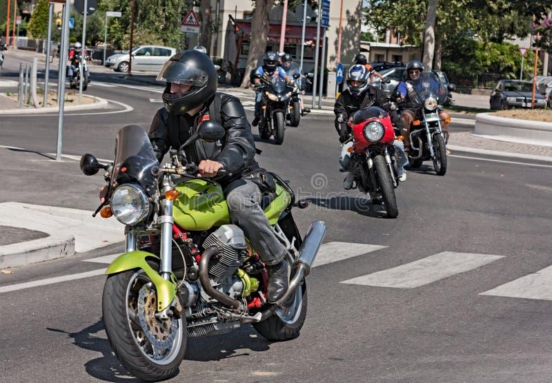Italienisches Motorrad stockfoto