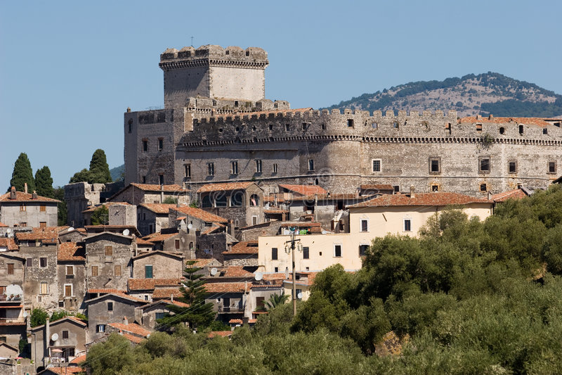 Italienisches Schloss stockfotos