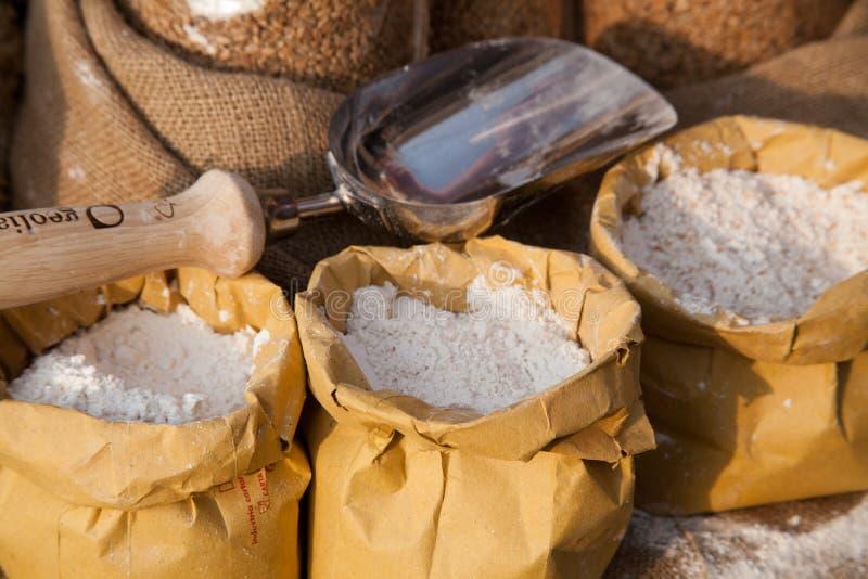 Italiens originaux de variétés de grain antique des graines antiques de l'Italie photographie stock libre de droits