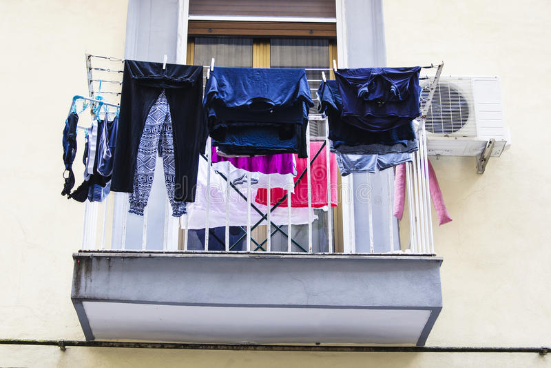 Italiensk balkong arkivfoton