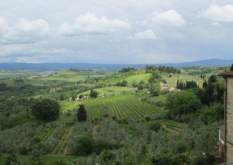 Italiensk bygd av Tuscany fotografering för bildbyråer