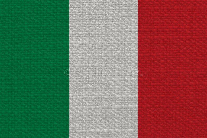 Italiensk flagga av Italien med tygtextur royaltyfria bilder