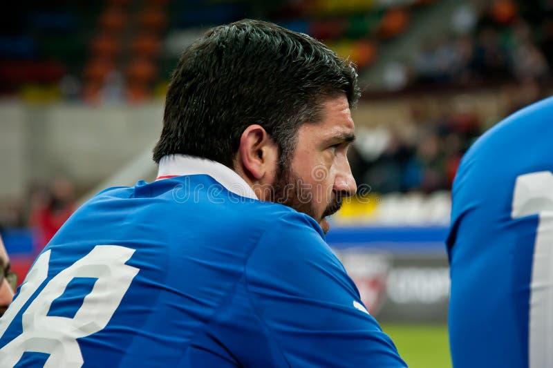 Italiensk fotbollsspelare och legend Gennaro Gattuso arkivbilder
