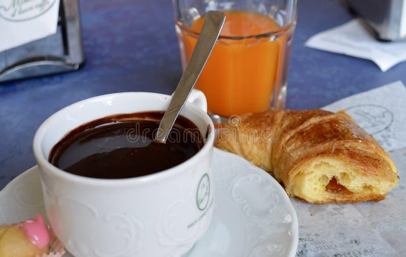 Italiensk frukost royaltyfri bild
