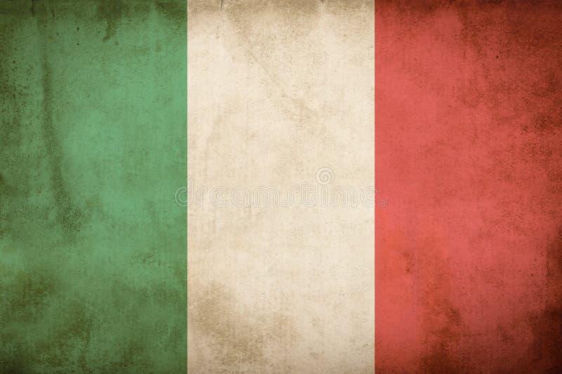 Italiensk grungeflagga stock illustrationer