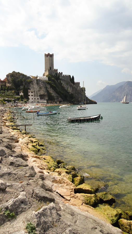 Italiensk Lakeside arkivfoton
