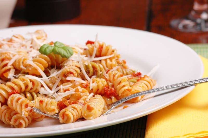 italiensk lunch fotografering för bildbyråer