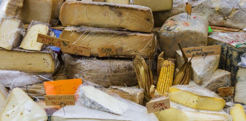 Italiensk ost arkivbild