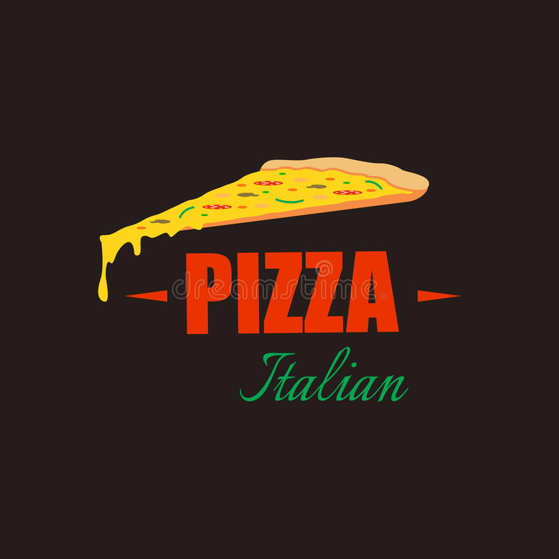 Italiensk pizzadesignbakgrund Det kan vara nödvändigt för kapacitet av designarbete Restaurangkafémeny, mall vektor illustrationer