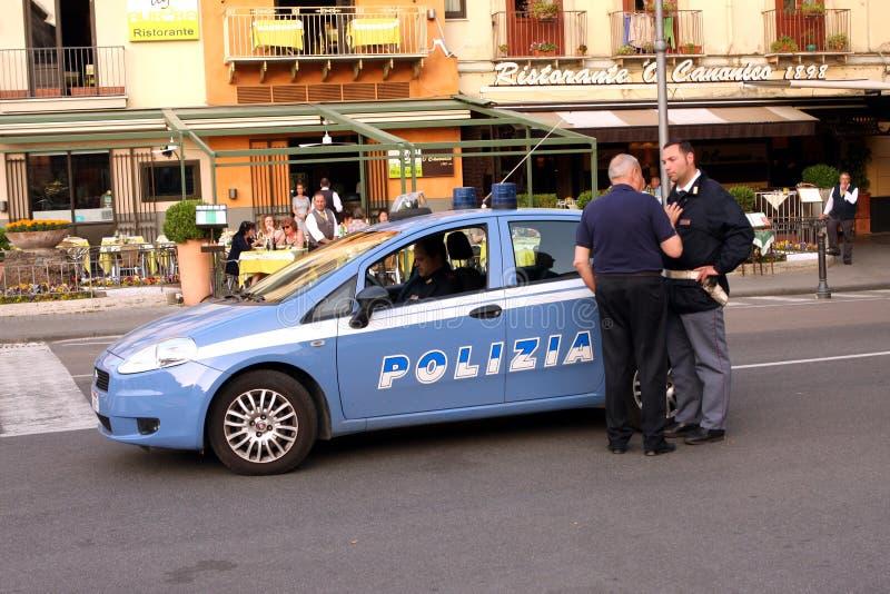 italiensk polis royaltyfri foto