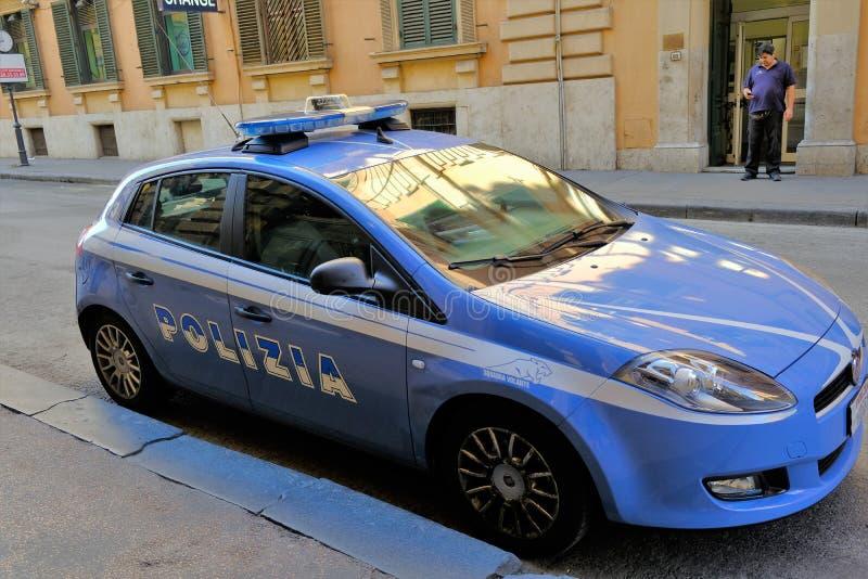 italiensk polis för bil royaltyfri bild