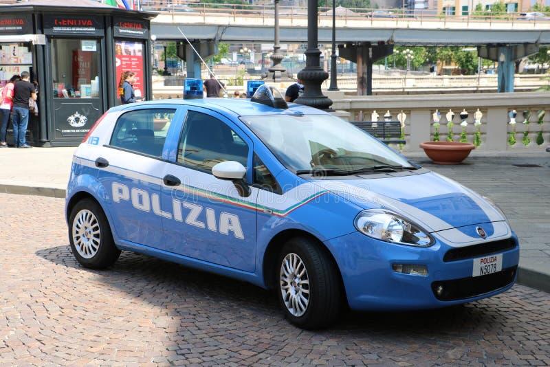 Italiensk polisfordon arkivbilder