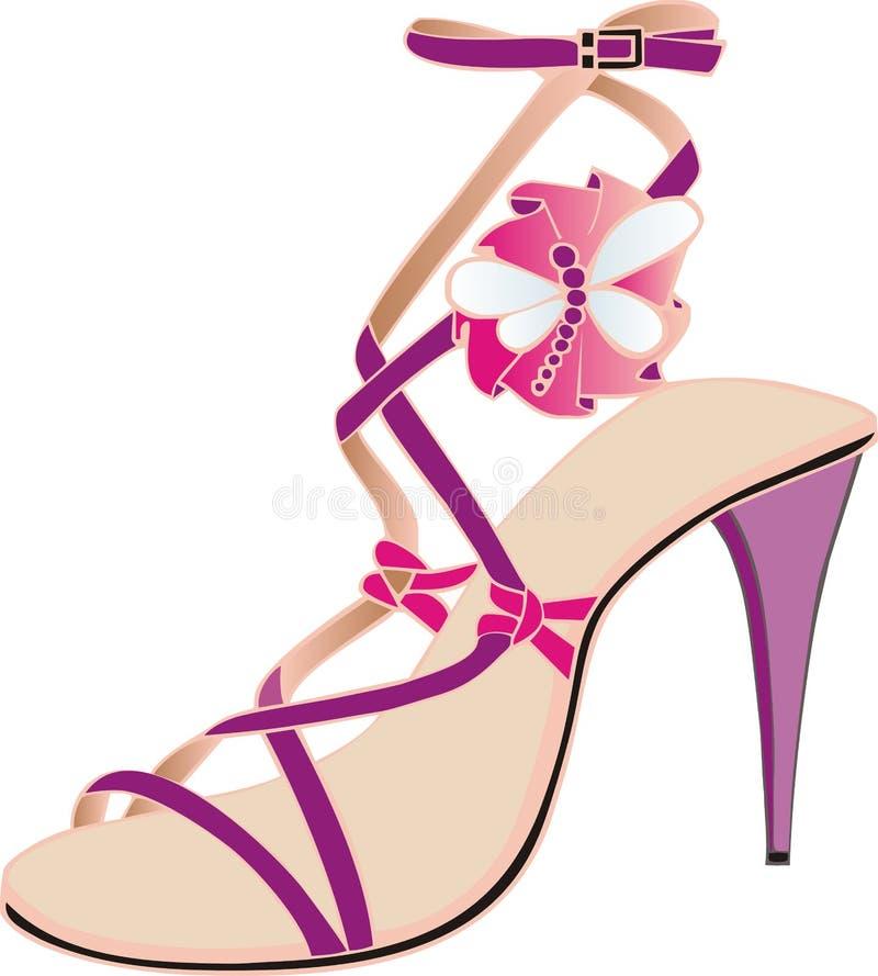 italiensk rosa sandal stock illustrationer