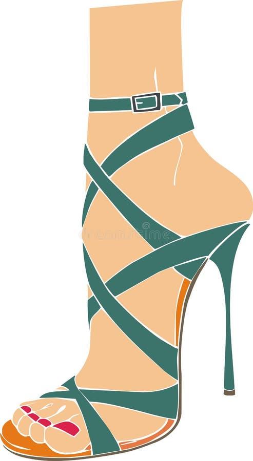 Italiensk sandal vektor illustrationer