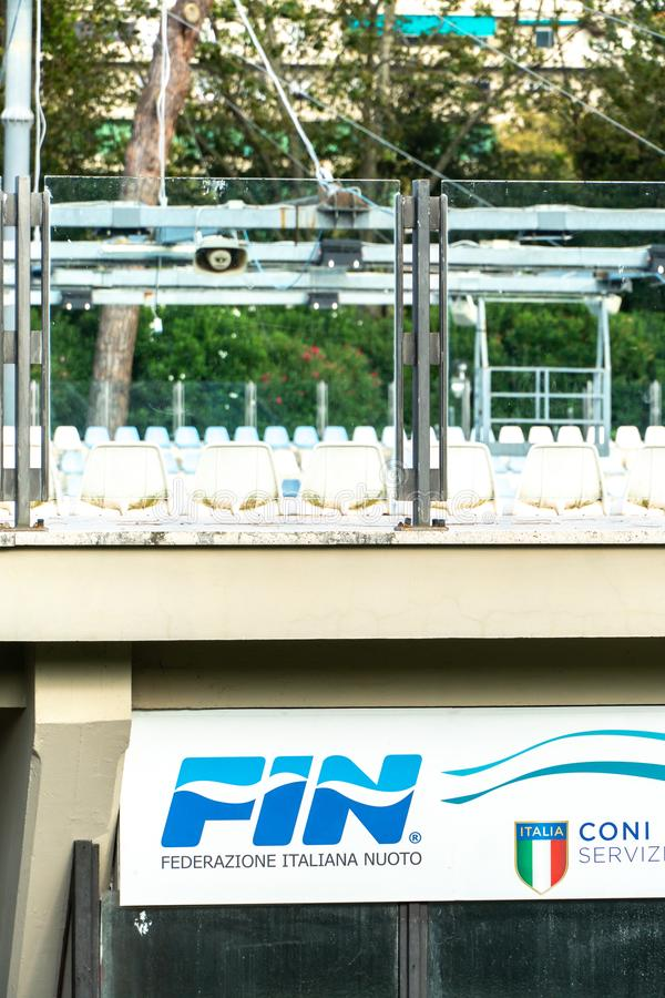 Italiensk simma federation - FENA royaltyfri foto