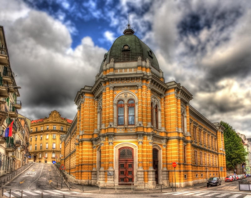 Italiensk skola i Rijeka, Kroatien arkivbilder