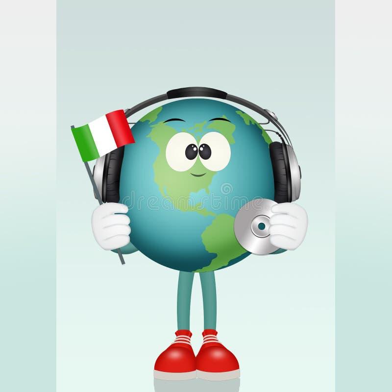 Italiensk språkkurs vektor illustrationer