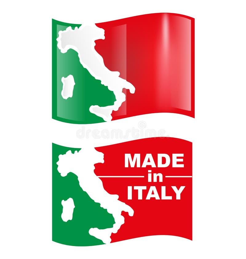 Italiensk symbolflagga vektor illustrationer