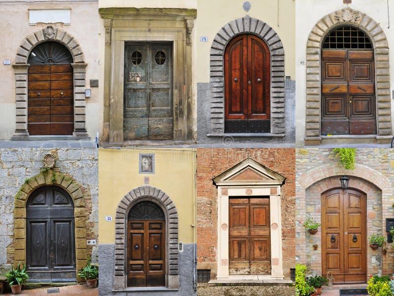 italienska dörrar royaltyfria foton