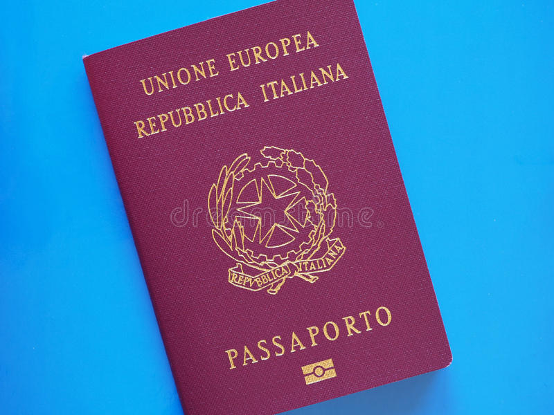 Italienskt passdokument royaltyfri fotografi
