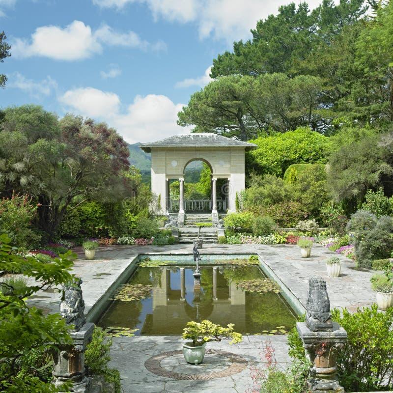 Itallian Garden, Ireland stock photography