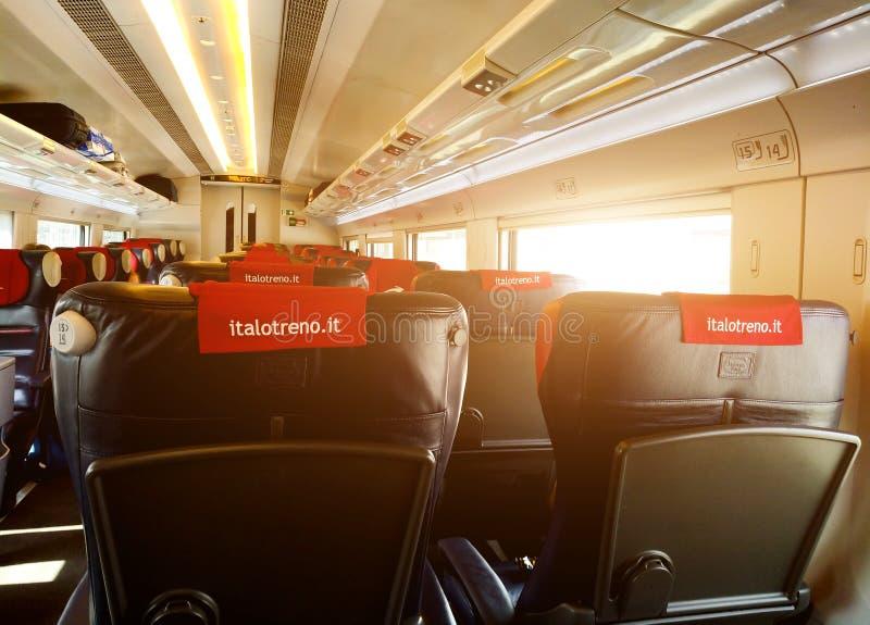 Italo火车-意大利内部  免版税库存图片