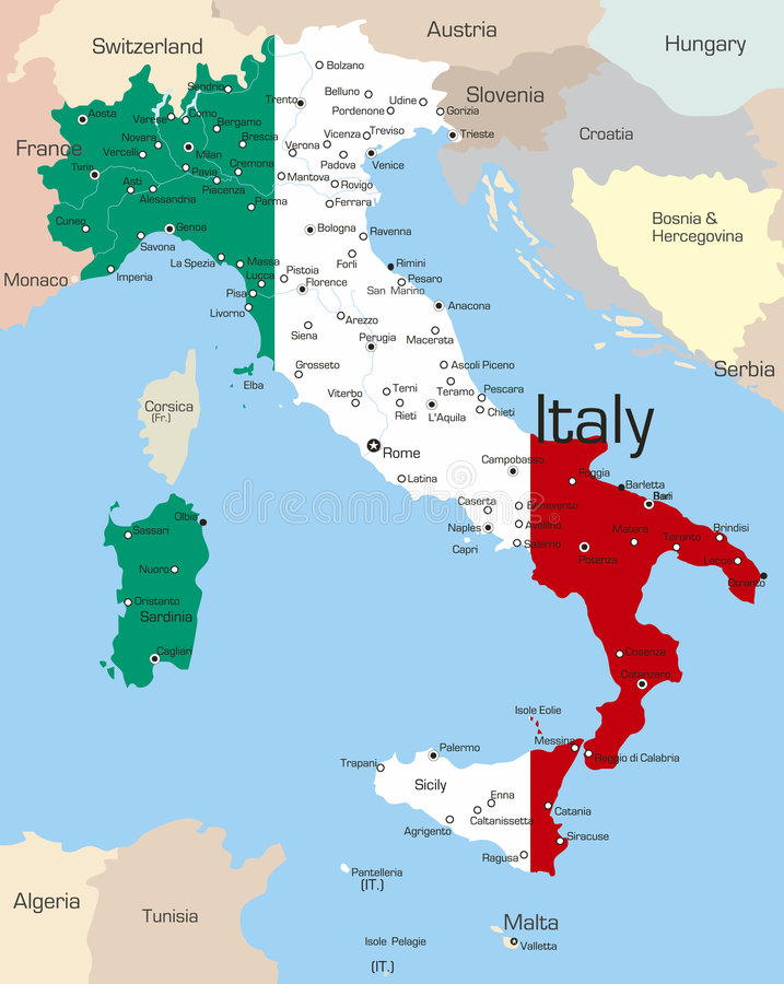 Italy ilustração do vetor