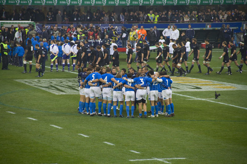 Italy - All Blacks. Cariparma Test Match Italy vs New Zealand (All Blacks) with score 6 - 20 royalty free stock photography