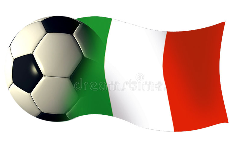 Italy ball flag royalty free illustration