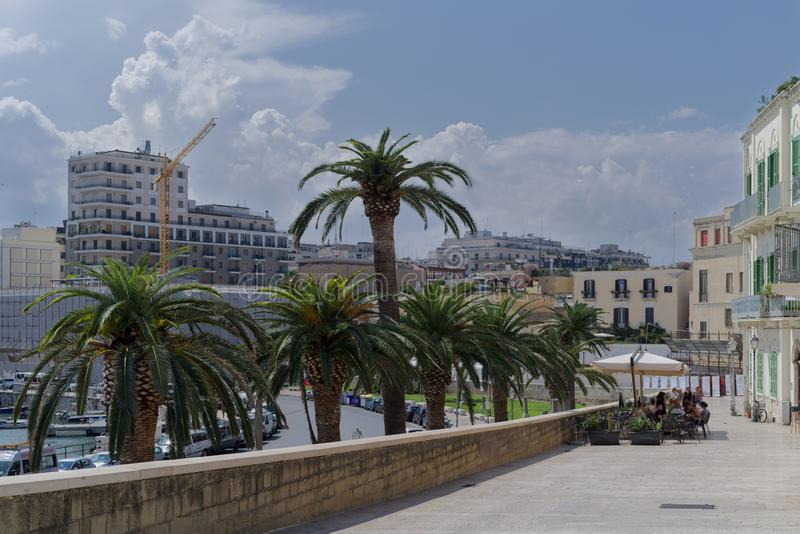 Look at Bari Italy. Italy Bari  town architecture in summer royalty free stock image