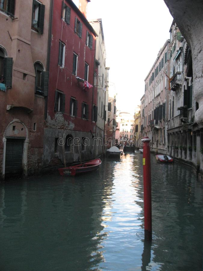 Italy beauty one of canal streets in Venice, Italia royalty free stock images