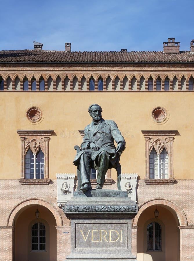 Monument to Giuseppe Verdi. Italy, Busseto. Monument to Giuseppe Verdi stock photography