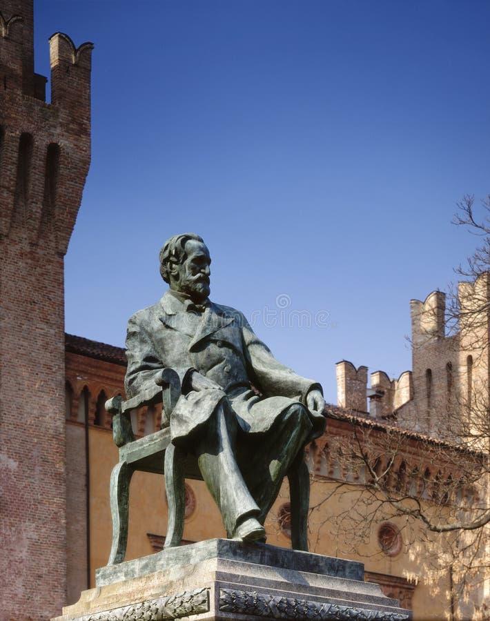 Monument to Giuseppe Verdi. Italy, Busseto. Monument to Giuseppe Verdi stock image