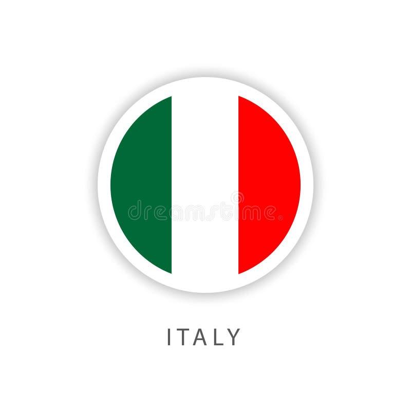 Italy Button Flag Vector Template Design Illustrator royalty free illustration